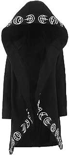 Women Gothic-Hoodie Witchcraft Punk-Cardigan-Jacket - Eye Moon Waist Rope Hoodie Jacket Top Long Sweatshirt