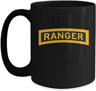 Army Ranger Coffee Mug - Ranger Tab - Black/White/11oz/15oz