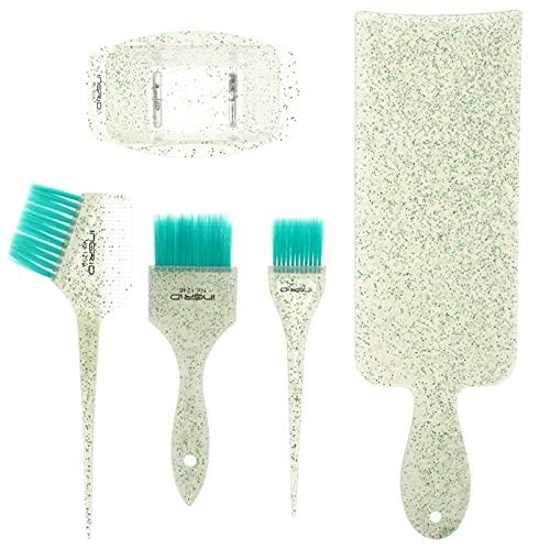 Minkissy 5 stuks haarverfset balayage markering board haar kleurborstel en kom haar kleurstof penseel kleuren kleur penseel DIY salon haar kleurstof gereedschap