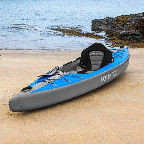 AQUATEC aufblasbare Kajaks | das Schlauchboot Kanu ist in 2 Stilen & entweder als Einzeln oder Tandem erhältlich (Ottawa (Pro), Einzeln)