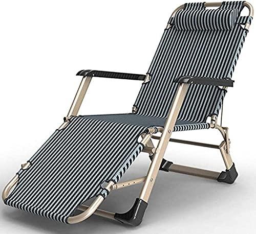 Liegestuhl-Liegestuhl, zusammenklappbare Liegestühle, Bürostrand-Lounge, extraweite Terrassenlieger-Champagnerstreifen