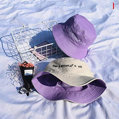 Sombrero de Cubo de Doble Cara para Hombre, Mujer, Gorra de Verano, Sombrero de Hip Hop, Sombrero de Pescador-a2-One Size