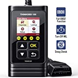 thinkcar OBD2 Scanner THINKOBD100 Code Reader with Full OBD2 Functions Read and Clear DTCs for MIL Turn-Off Check Engine Light O2 Sensor and Smog Check