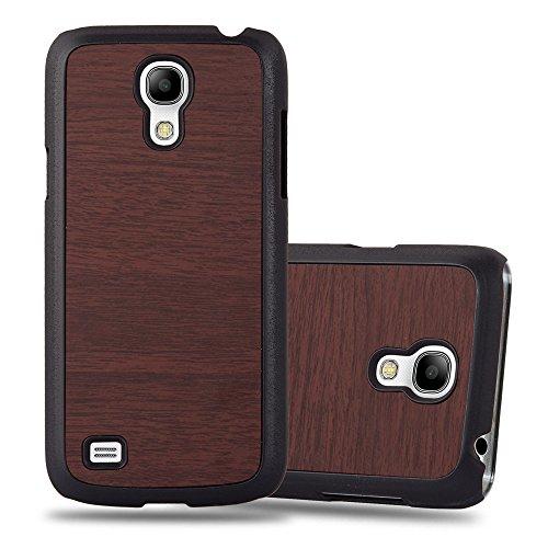 Cadorabo Hülle für Samsung Galaxy S4 Mini - Hülle in Woody Kaffee – Hardcase Handyhülle in Vintage Holz Optik - Schutzhülle Bumper Back Case Cover