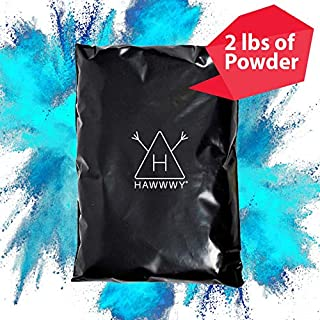 Hawwwy Colorful Powder Used for Gender Reveal Powder for Burnout, Colored Powder for Color Run, Tannerite Surprise Holi Games Motorcycle Exhaust Car Tires Truck Photography Packets (Blue Incognito)