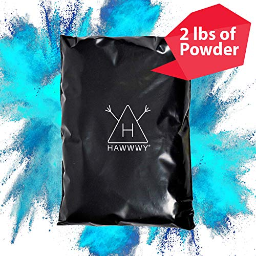 Hawwwy Colorful Powder for Gender Reveal Powder for Burnout Baby Boy Announcement Colored Tannerite Surprise Holi Unique Fun Game Motorcycle Exhaust Car Tires Truck Photography Packets Blue Incognito