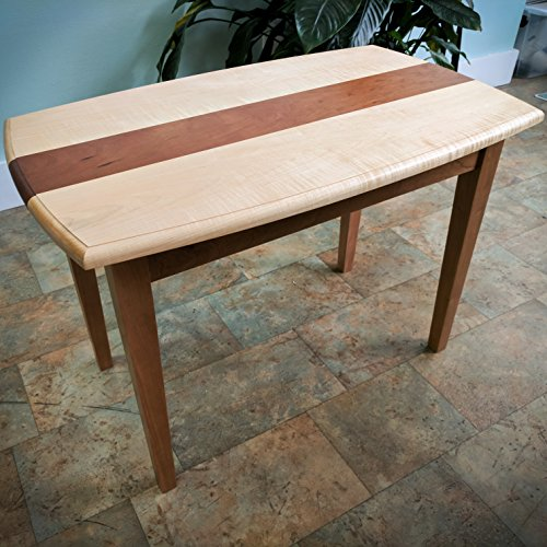 Curved Edge, Tapered Leg End Table / Accent Table