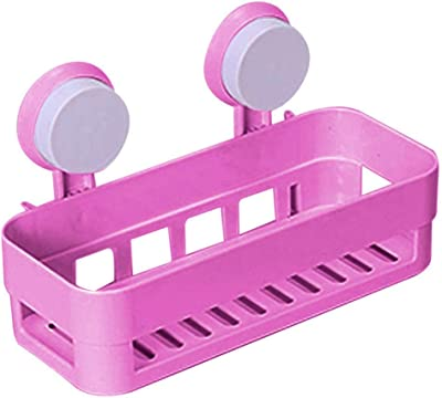 Romino Adjustable Storage Rack Shelf | Bathroom & Kitchen Storage Organize Shelf Rack | Rectangle Shower Basket with Wall Mounted Suction Cup
