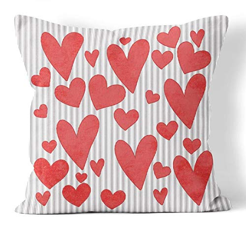 Anyuwerw - Fundas de almohada para el día de San Valentín (45,7 x 45,7 cm), color rosa y rojo