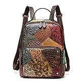 Angle-w diseño Elegante, Viajes Sencillos, Mochila de Cuero para Mujer Bolsas...