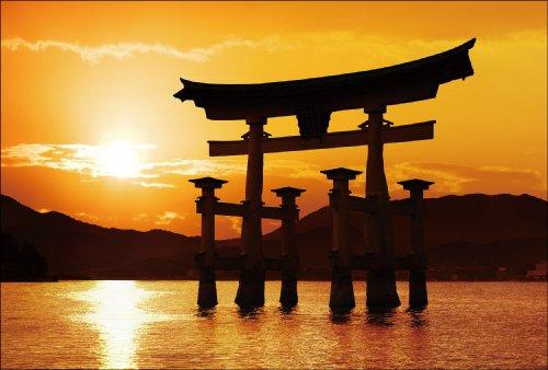 【Amazon.co.jp 限定】厳島神社 大鳥居 ポストカード3枚セット P3-015