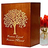 Urns for Human Ashes Adult Male - Cremation Urns for Adult Ashes, Extra Large Wood Remains earns boxes for mother male woman men dad mom large size urn memory keepsake, Funeral Burial Humans Cremation