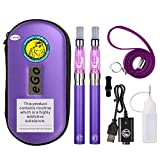 <span class='highlight'><span class='highlight'>WOLFTEETH</span></span> 2 Pack CE4 E Cigarette Starter Kit | Rechargeable 1100mAh | CE4 Atomizer 1.6ml Liquid Refillable | Electronic Cigarettes Vaporiser Case Set | No E Liquid No Nicotine 1008(Purple)