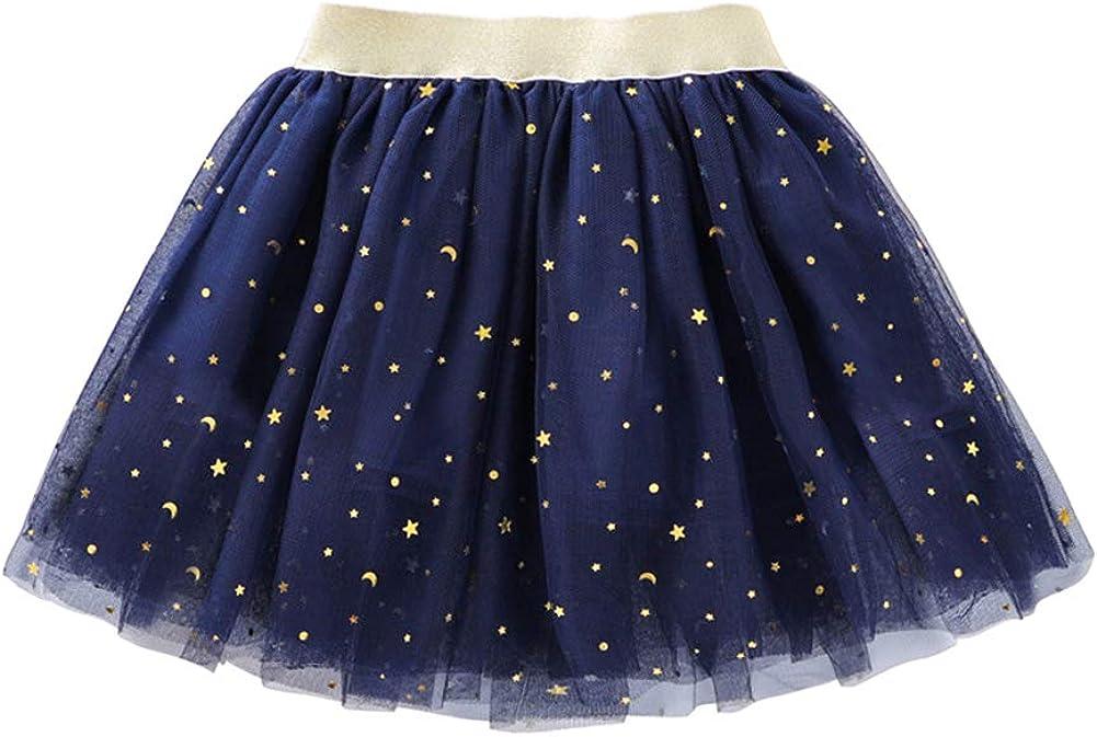 OWIKAR Baby Girls Tutu Skirt Girls Layered Stars Sequins Tulle Skirt Princess Ballet Dance Dress