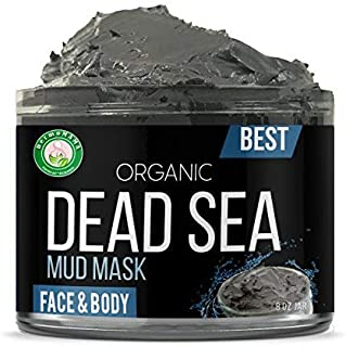Dead Sea Mud Mask Pure Natural and Organic Formula, Exfoliating Facial Mask For Soft, Smooth Complexion, Anti-Acne Beauty Treatment For Oily Skin, Blackheads And Pores Deep Cleansing By Dermomama 8oz