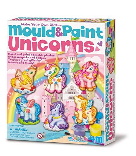 4M-Stampo e Vernice Unicorno, Multicolore, 404708