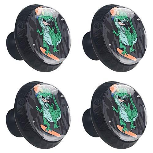 Shiiny Skater T Rex - Tirador para cajón o armario (4 unidades)