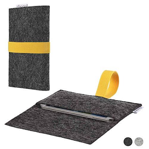 flat.design Handy Hülle Aveiro kompatibel mit Shift Shift6m passexakte Filz Tasche Hülle Sleeve Made in Germany