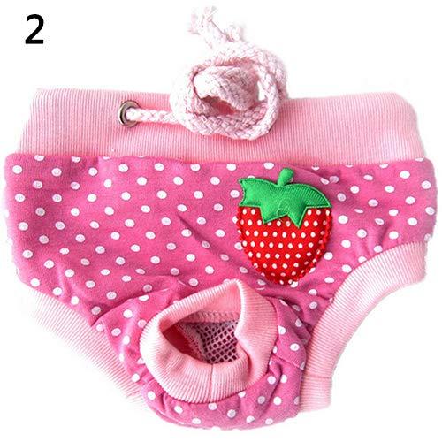 tianxiangjjeu Vrouwelijke Hond Puppy Sanitaire Broek Korte Panty Gestreepte Luier Ondergoed, XL, roze