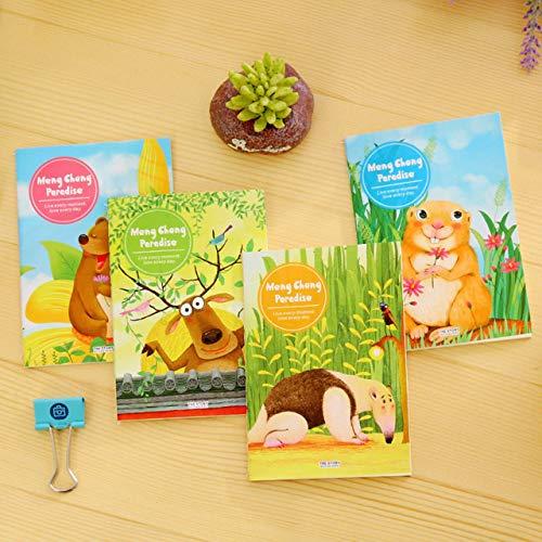 Easyeeasy Mini cuaderno de dibujos animados lindo para niños, estudiantes, colores dulces, portátil de bolsillo, cuaderno de notas Steno, Mini Bloc de notas diario