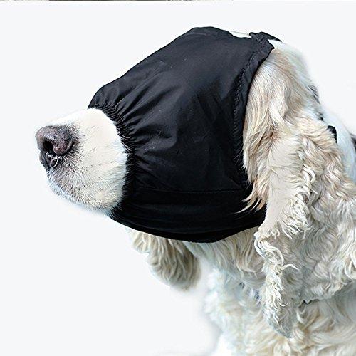 BECROWM EU Augenmaske für Hunde, beruhigende Kappe, Schattenspender für Angst und Entspannung
