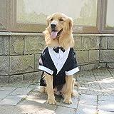 longlongpet Haustierkleidung für Hunde und Katzen, Smoking mit Schleife, Hochzeitsanzug, Partykostüme für kleine, mittelgroße und große Hunde