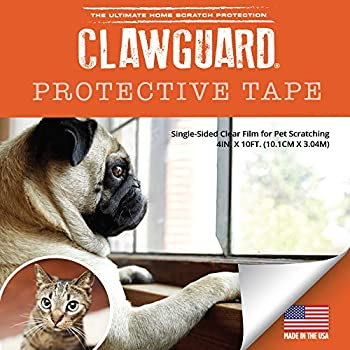 CLAWGUARD Protection Tape - Durable Single-Sided Shield Protection Barrier Against Cat Dog Bird Rabbit Scratching and Clawing Furniture Couch Window Sill Car Door Glass and More!