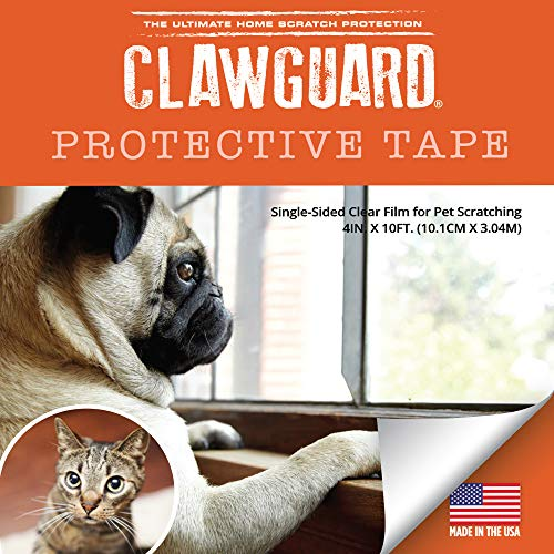 CLAWGUARD Protection Tape - Durable Single-Sided Shield Protection Barrier Against Cat, Dog, Bird, Rabbit Scratching and Clawing Furniture, Couch, Window Sill, Car Door, Glass and More!