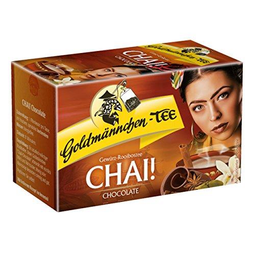 Oro quemar té chai. Chocolate, especias de té rooibos BOS Chocolate, Sabor con vainilla, 20bolsas de té
