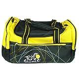 Tour de France - Bolsa de deporte con correa para el hombro, color negro y amarillo