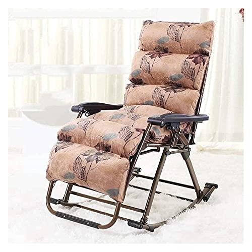 ZOUJIANGTAO Sillón reclinable sillas Camping Camas Mecedora Silla Ocio Silla jardín Patio Plegable Acero Estructura Tela textilene Tela (Size : 70x53x122cm)