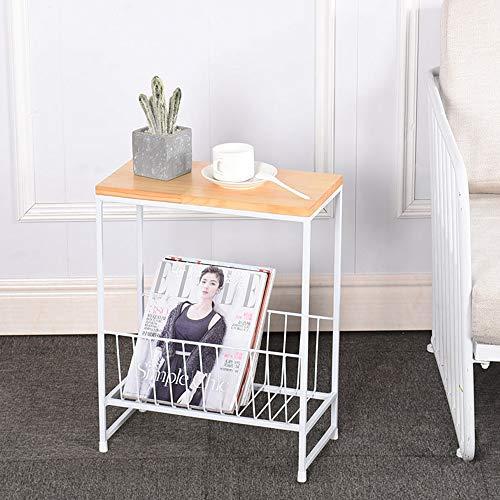 XiuHUa kleine salontafel bank kant smeedijzeren bijzettafel mini eenvoudige zijkast kleine salontafel woonkamer nachtkastje kleine vierkante tafel, 40x50x20 cm, 50x55x25 cm bijzettafel