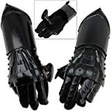 Swordsaxe Undead Medieval Conquest Armor Gauntlets of Dexterity Night Warrior Black - 18G Functional Carbon Steel