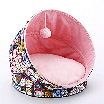 Lit Coussin Pliable Pet Nest - Portable universel semi-fermé sommeil profond for chien et chat matelas Four Seasons universel amovible Coussin intérieur des cheveux est pas facile de coller à cheveux