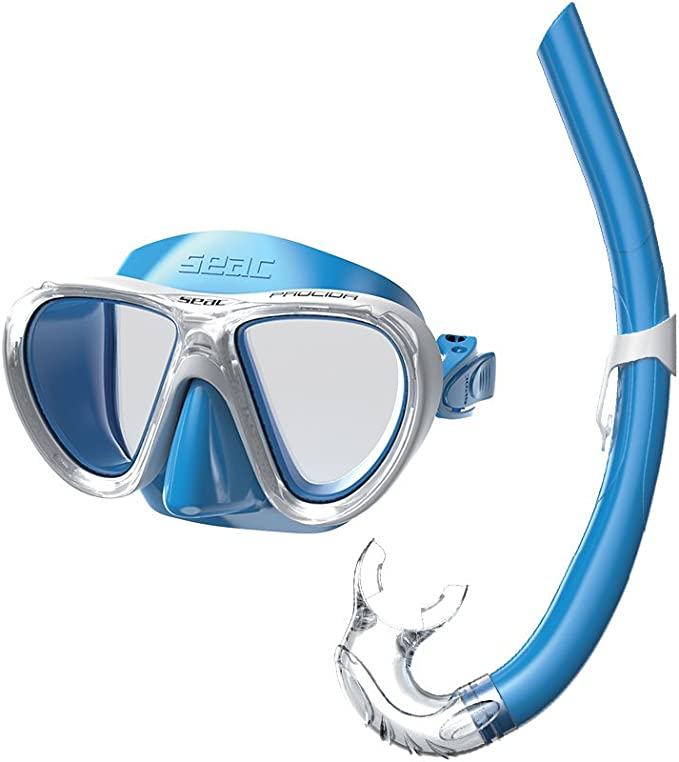 SEAC Tribe Dry Junior Scuba Diving and Snorkeling Dry Snorkel S//KL Aquamarine Aquamarine