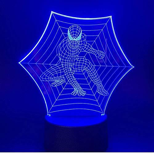 Baby Spielzeug Spiderman milagro superhéroe led noche luz 7 color control remoto cambio interruptor noche luz USB batería niños regalo hogar iluminación