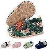 LAFEGEN Baby Boy Girl Walking Shoes Non Slip Soft Sole Infant Toddler Slipper Newborn Moccasins First Walker House Crib Sneaker Shoes, 01 Green Lion, 9-12 Months Infant