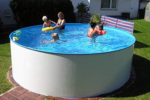 Summer Fun Stahlwandbecken Mauritius Basic rund ø 4,00m x 1,20m Einzelbecken Pool Rundpool ohne Zubehör / 400 x 120 cm Stahlwandpool