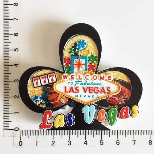 Nonebranded Imán de Nevera de Turismo Mundial, Recuerdo de EE. UU, Las Vegas, Paisaje Cultural, Pegatinas para Nevera, Juego de Regalo, decoración del hogar