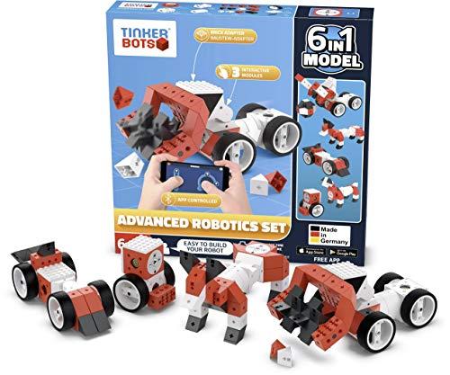 Produktbild TINKERBOTS Roboter Bausatz Advanced Robotics Set kompatibel mit LEGO und anderen Bausteinen