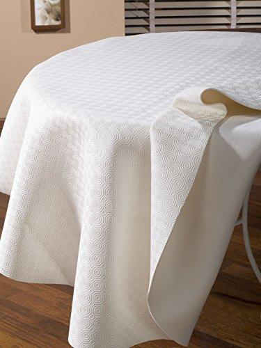 CALIGOMME Protection DE Table Blanc Ovale 135x220 cm