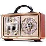 Retro Radio Bluetooth AM FM Portable Radio AC Battery Operated Vintage Tabletop Radio