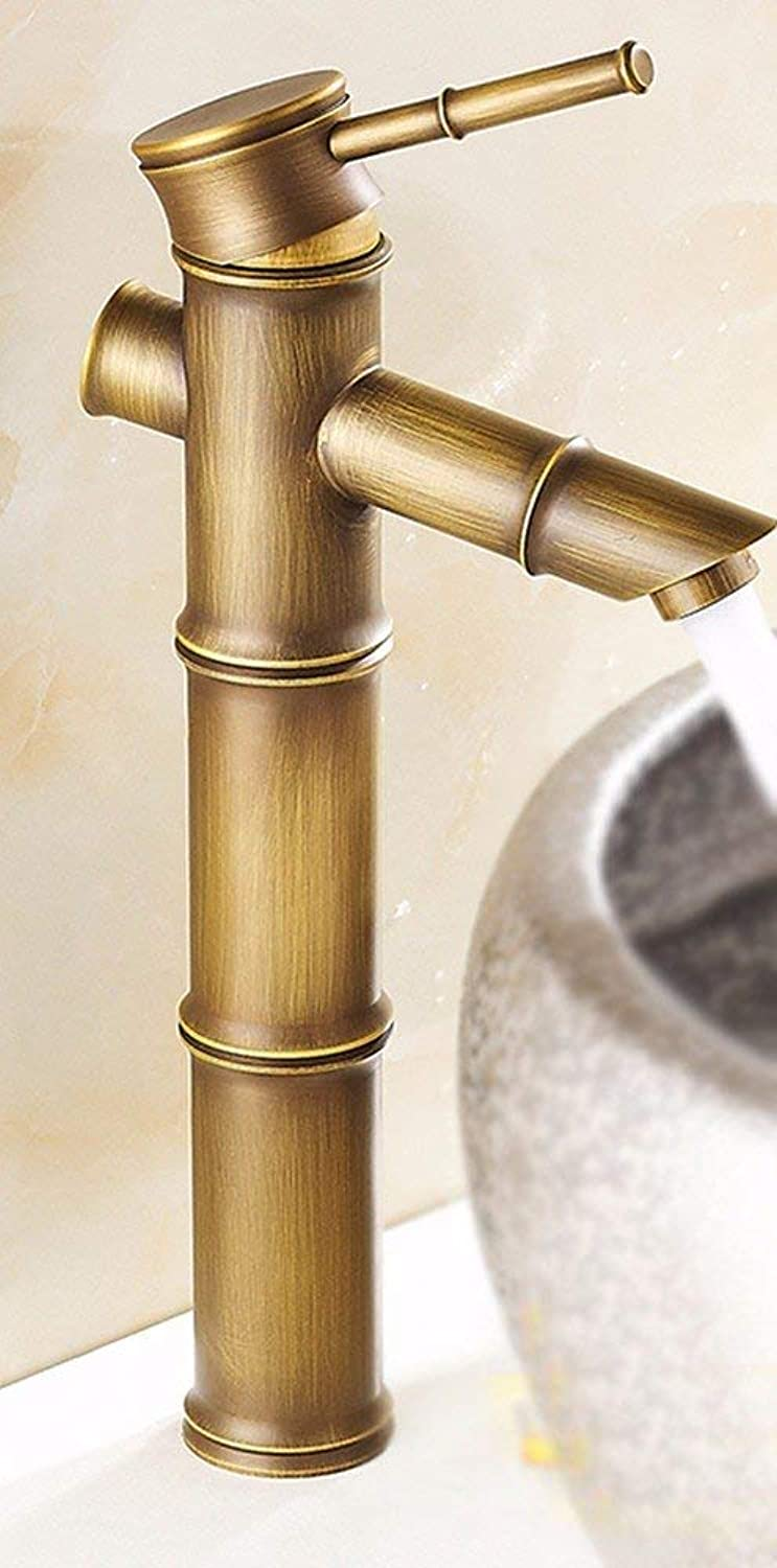 Oudan Full Copper Bamboo Hot And Cold Sink Faucet
