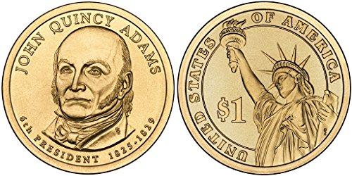 2008 P John Quincy Adams, 25-coin Bankroll of Presidential Dollars Uncirculated
