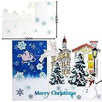 1個/5個/10個/20個 クリスマス休暇 新年のクリスマスカード 3Dの手作りのペーパーカットメッセージギフト ウィッシュカード AB484 (AB513E,1個)