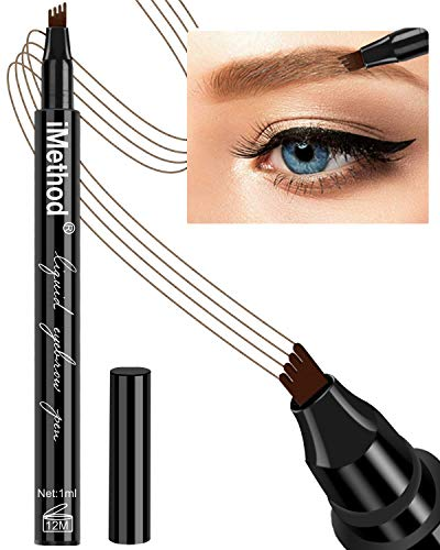Eyebrow Pen - iMethod Eyebrow Pencil with a Micro-Fork Tip Applicator Creates Natural Looking Brows Effortlessly and Stays on All Day, Blonde