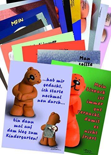 tatzino 9 Postkarten Sammler Kollektion Thema Charakter Mehrwert 9 Motive C6