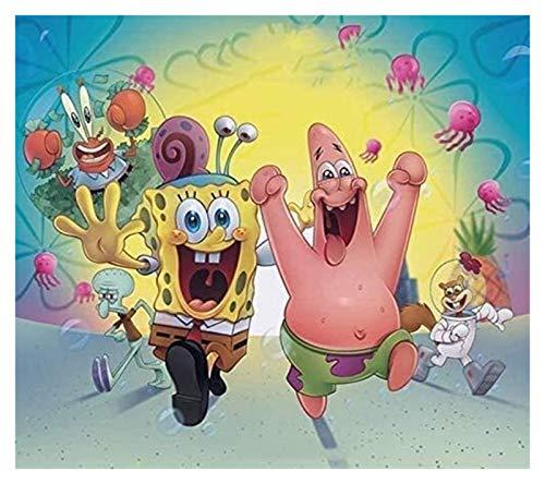 ZGPTOP Rompecabezas Spongebob Adults Kids Game DiscomPresione Regalo Inteleccional Educación Juguete Puzzles de Madera 300-6000 Piezas (Size : 4000P)