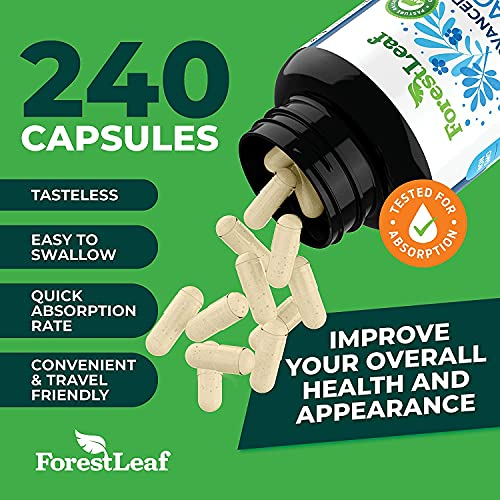 51iZeKwUGdS. SL500  - Advanced Collagen Supplement, Type 1, 2 and 3 with Hyaluronic Acid and Vitamin C - Anti Aging Joint Formula - Boosts Hair, Nails and Skin Health - 240 Capsules - by ForestLeaf