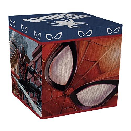 Spiderman Spielzeugkiste + Hocker Aufbewahrungsbox mit Deckel Stuhl Kiste